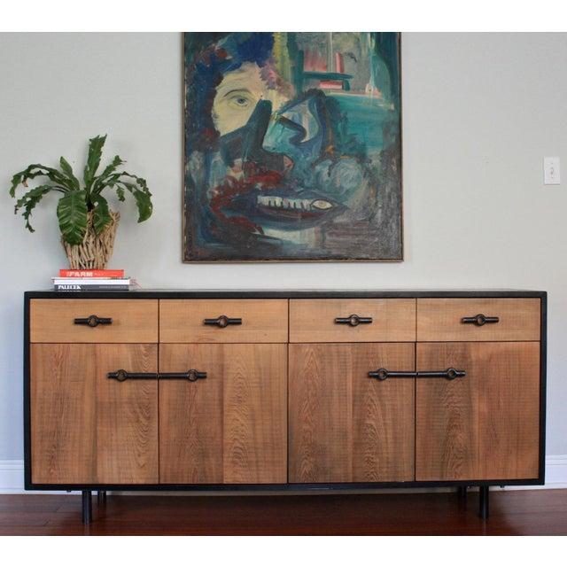 Wood Industrial Franklin Credenza/Sideboard For Sale - Image 7 of 8