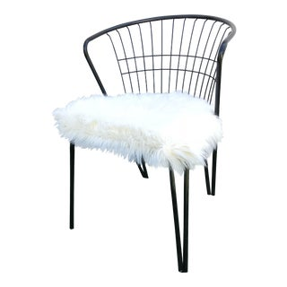 Fur Seat American Wire Chair