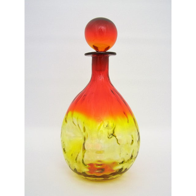 Mid-Century Modern Mid-Century Blenko Amberina Glass Decanter For Sale - Image 3 of 11