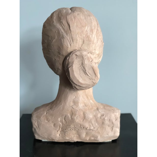 Mid 20th Century Mid Century Clay Bust For Sale - Image 5 of 7