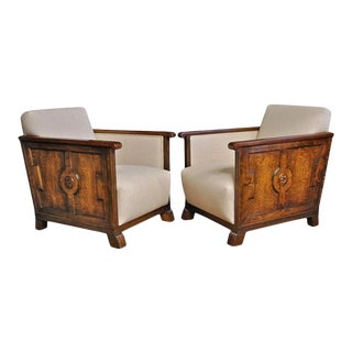 Early 20th Century Chairs by Axel Einar Hjorth - a Pair For Sale