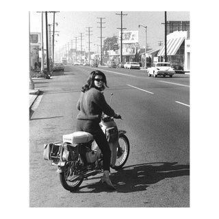Ann-Margret on Her Honda Motorcycle 1964 For Sale