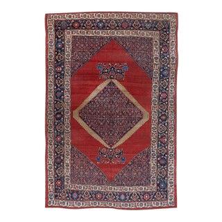 Red Ground Medallion Bijar Carpet For Sale