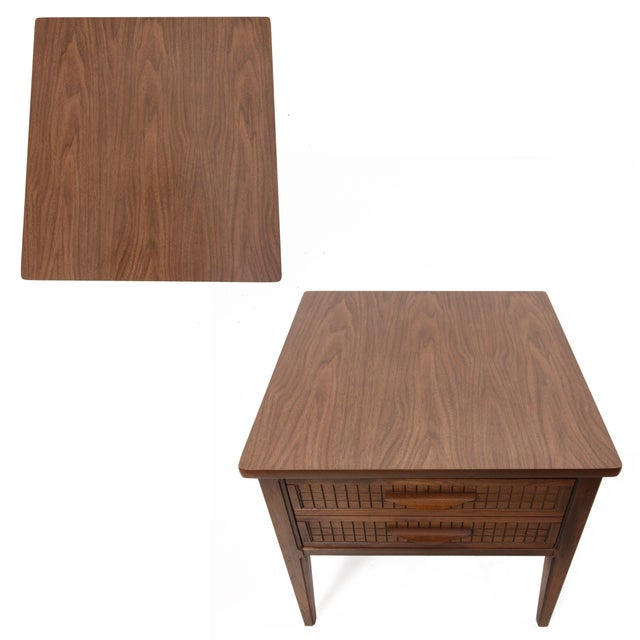 Late 20th Century Mid Century Modern Single Drawer Side Table For Sale - Image 5 of 10
