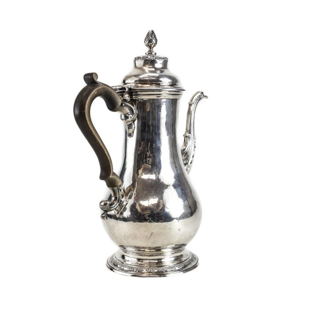 Charles Wright London George III Sterling Silver Coffee Pot For Sale - Image 4 of 6
