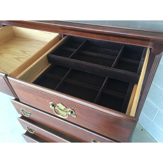 Colonial Furniture Solid Cherry 7 Drawer High Chest For Sale In Philadelphia - Image 6 of 9