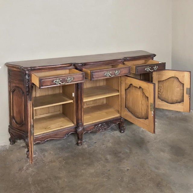 Antique Country French Louis XV Step-Front Buffet For Sale - Image 4 of 13