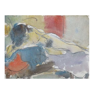 'Reclining Nude' by Victor DI Gesu; California Post-Impressionist, Louvre, Académie Chaumière, Paris For Sale