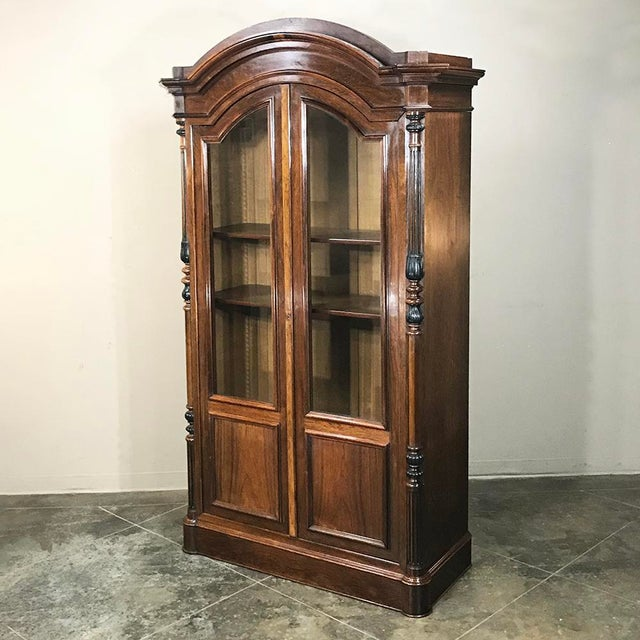 French 19th Century French Louis Philippe Rosewood Bookcase For Sale - Image 3 of 12