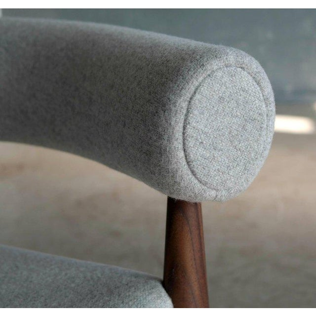 Pair of Nanna Ditzel Ring Chairs in Walnut and Wool for Getama, Denmark For Sale In New York - Image 6 of 9