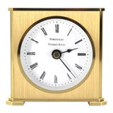 Image of Early 20th Century Vintage Brass Case Tiffany Desk Clock For Sale