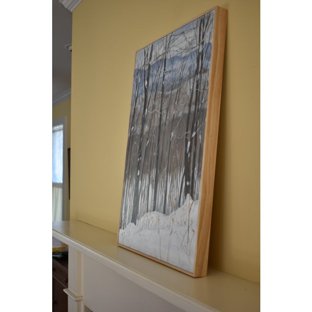 "Paint Stephen Remick ""Snowy Mountains Through Bare Trees"" Contemporary Landscape Painting For Sale - Image 7 of 12"