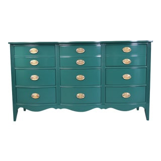 19th Century Modern Serpentine Green Gloss Lacquer Dresser For Sale