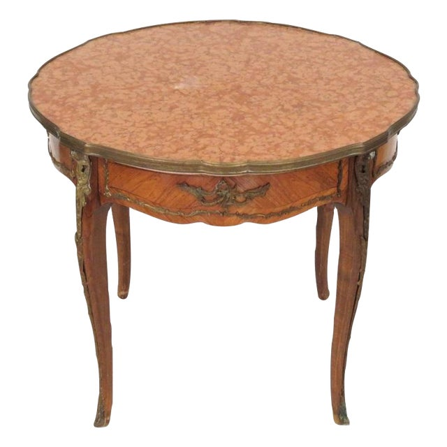 Antique Louis XV Style Bronze Mounted Center Table - Image 1 of 6