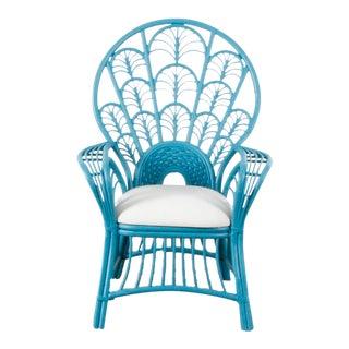 Blue Peacock Arm Chair