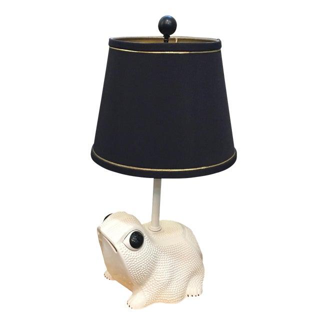 Circa 1960 Italian Frog Table Lamp For Sale