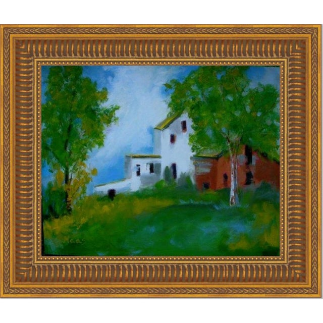 """""""Country Farm"""" Oil Painting Comes Framed For Sale - Image 11 of 12"""