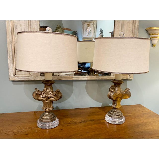 19th Century Antique Fragment Lamps - a Pair For Sale In Dallas - Image 6 of 7