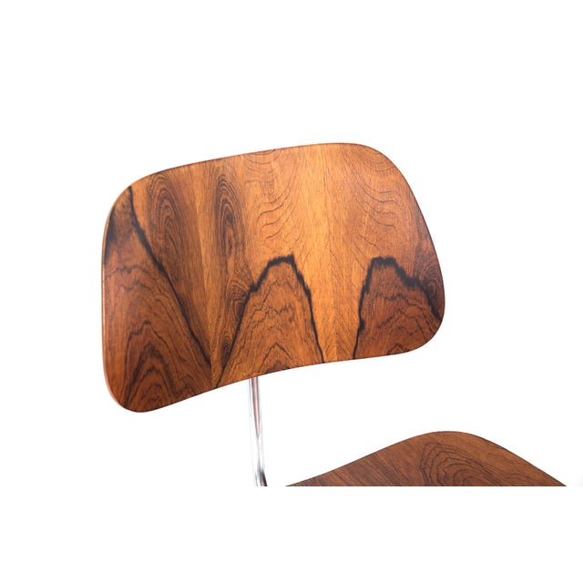 Herman Miller Eames for Herman Miller Rosewood DCM Chair For Sale - Image 4 of 6