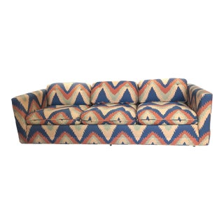 Vintage Mid Century Bernhardt Chevron Sofa For Sale