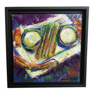 """""""Dinner"""" Original Framed Oil Painting For Sale"""