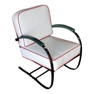 Wolfgang Hoffmann Custom Green and Black Springer Chair for Howell For Sale