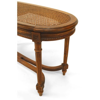 French Louis XVI Style '19th Century' Walnut Oval Shaped Bench Preview