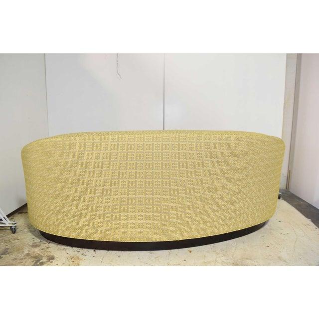 Art Deco Custom Kidney Shaped Sofa With Kravet Fabric For Sale - Image 3 of 12