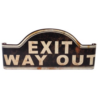 Vintage Inspired Exit Sign For Sale