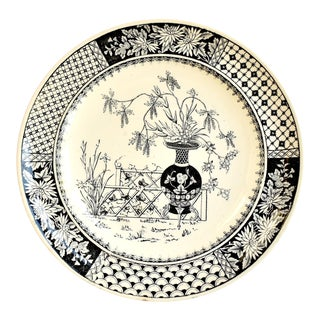 "19th Century Antique Copeland ""Kew"" Chinoiserie Plate For Sale"