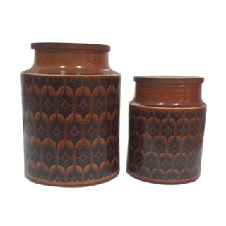 1970s Vintage Hornsea Pottery Canisters - a Pair For Sale
