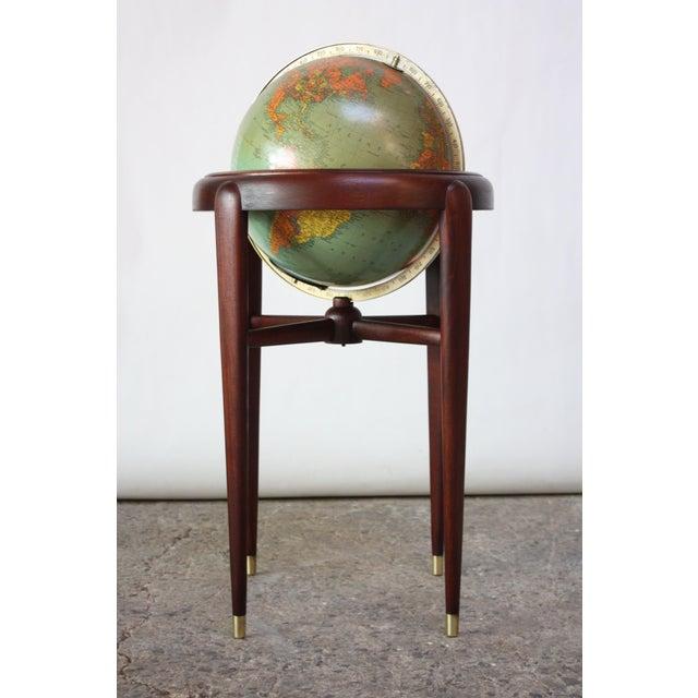 1960s Replogle Illuminated Glass Globe on Mahogany Stand - Image 2 of 13