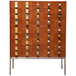 Cabinet With 45 Drawers Designed by Philippe Neerman for De Coene, Belgium For Sale