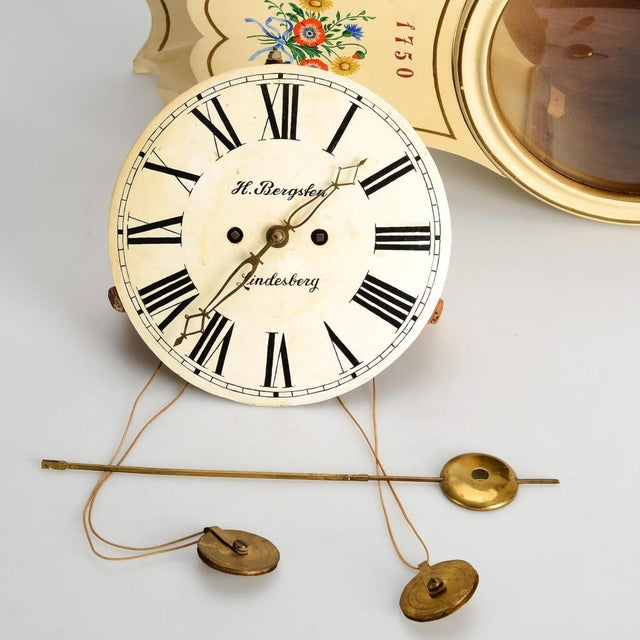 Antique Swedish Wall Clock For Sale - Image 4 of 6