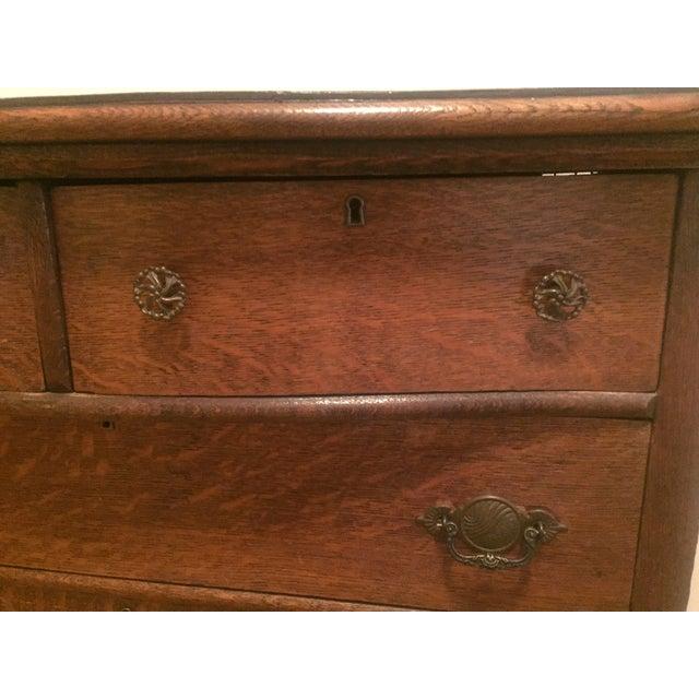 1920s Tiger Oak Dresser For Sale - Image 4 of 7