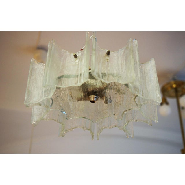 Glass chandelier by JT Kalmar For Sale - Image 6 of 11
