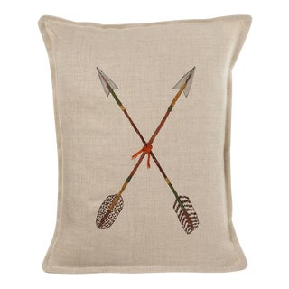 Boho Chic Crossed Arrows Pillow For Sale