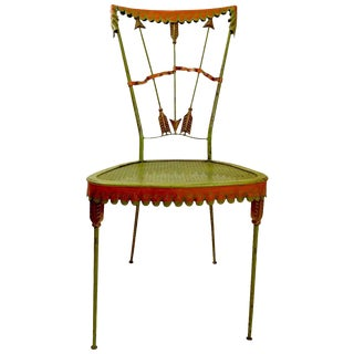 Tomaso Buzzi Wrought Iron Side Chair For Sale