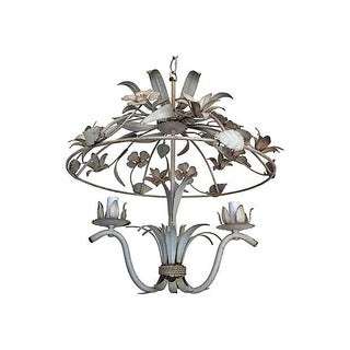 1950s Italian Garden Pavilion Chandelier For Sale
