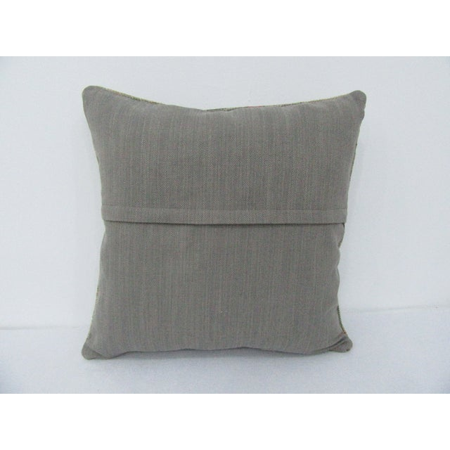 Turkish Vintage Turkish Faded Decorative Pillow For Sale - Image 3 of 4