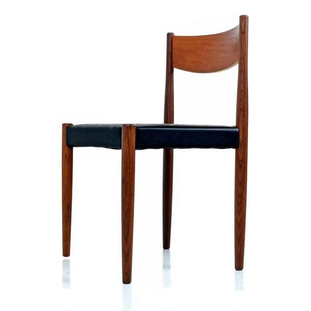 Danish Modern Rosewood & Teak Dining Chairs For Sale - Image 4 of 7