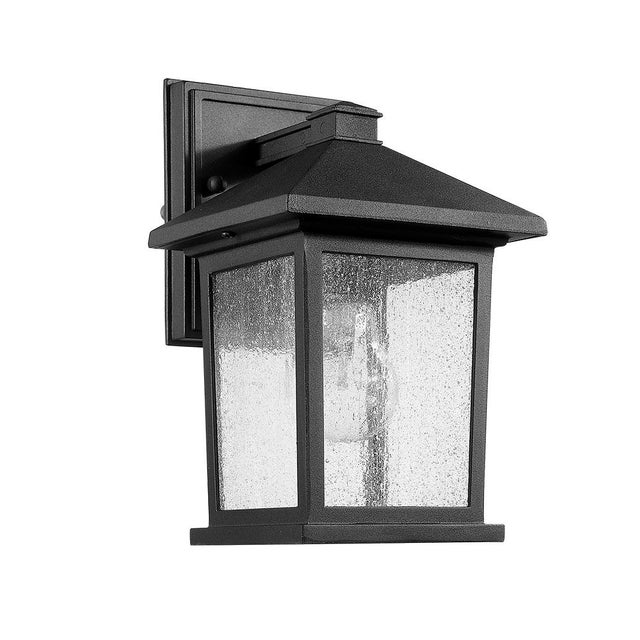 Carriage House 1 Light Outdoor Wall Sconce, Black - Aluminum For Sale - Image 4 of 4