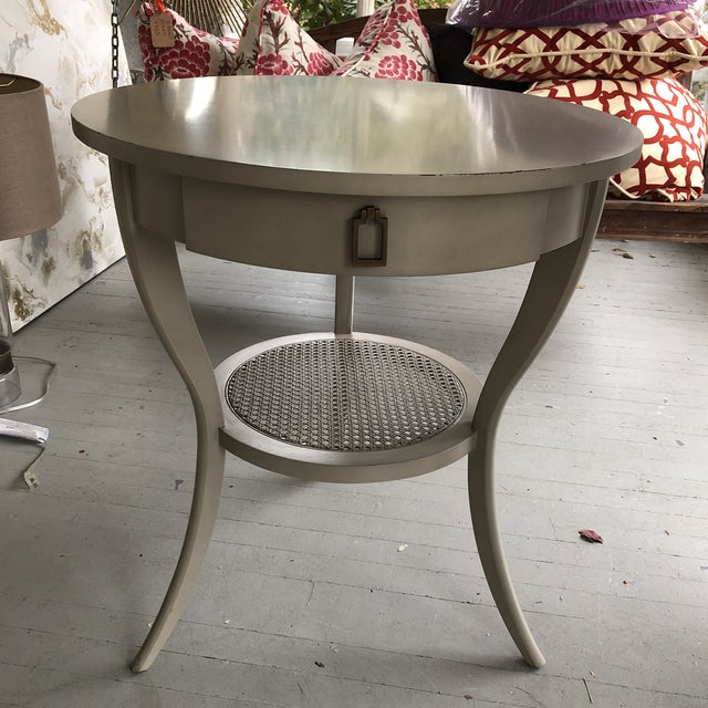Shabby Chic Michael Weiss Vanguard Miranda Lamp Table For Sale - Image 11 of 12