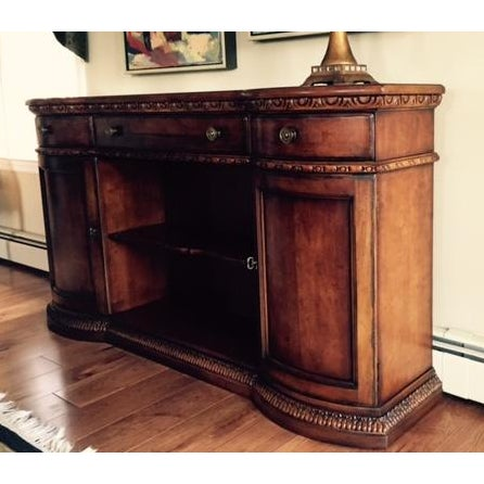 Century Furniture Rounded Cabinet Console - Image 2 of 4