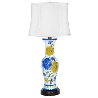 Hand-Painted Floral Vase Lamp
