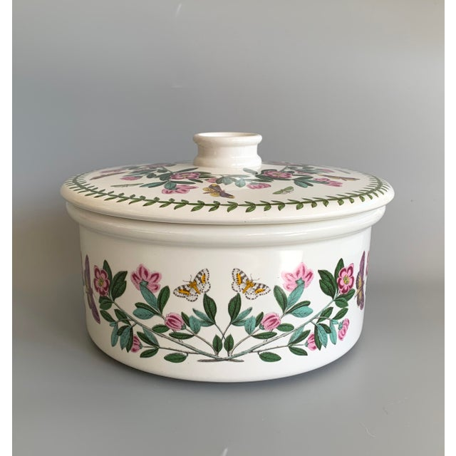 English Portmeirion Botanic Garden Rhododendron Covered Casserole Tureen For Sale - Image 12 of 12