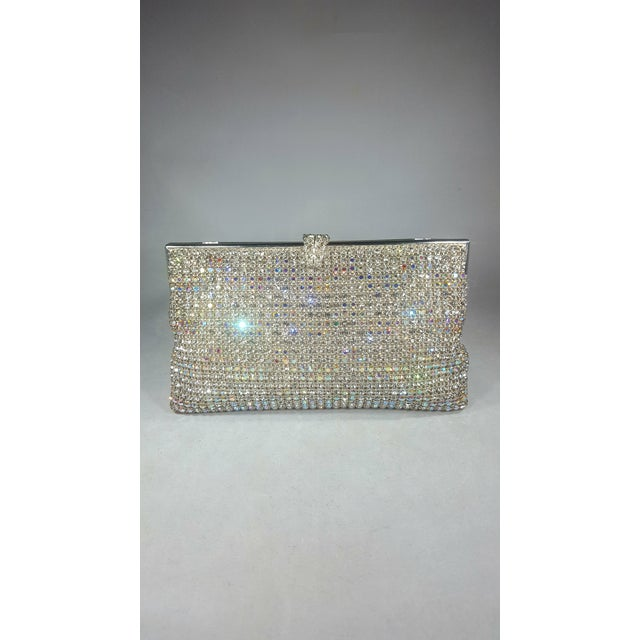 Bling! Bling! Vintage Swarovski Crystal evening bag with hidden chain made in West Germany. Absolutely Exquisite in every...