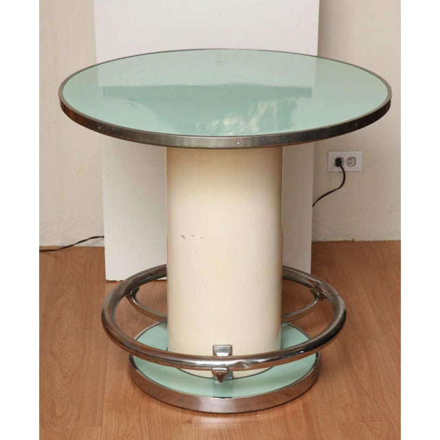 Maison Leleu Modernist Round Table For Sale In New York - Image 6 of 7