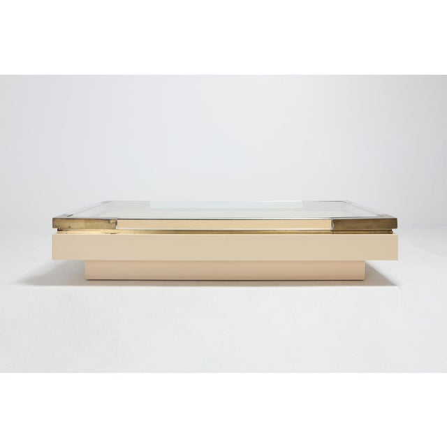 Charles Hollis Jones designed this sliding coffee table in the 1970s Very modern design which resembles a bit the Jacques...