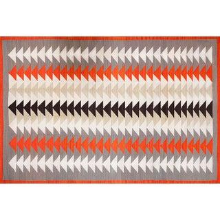 Modern Navajo Style Wool Rug - 6′ × 9' For Sale